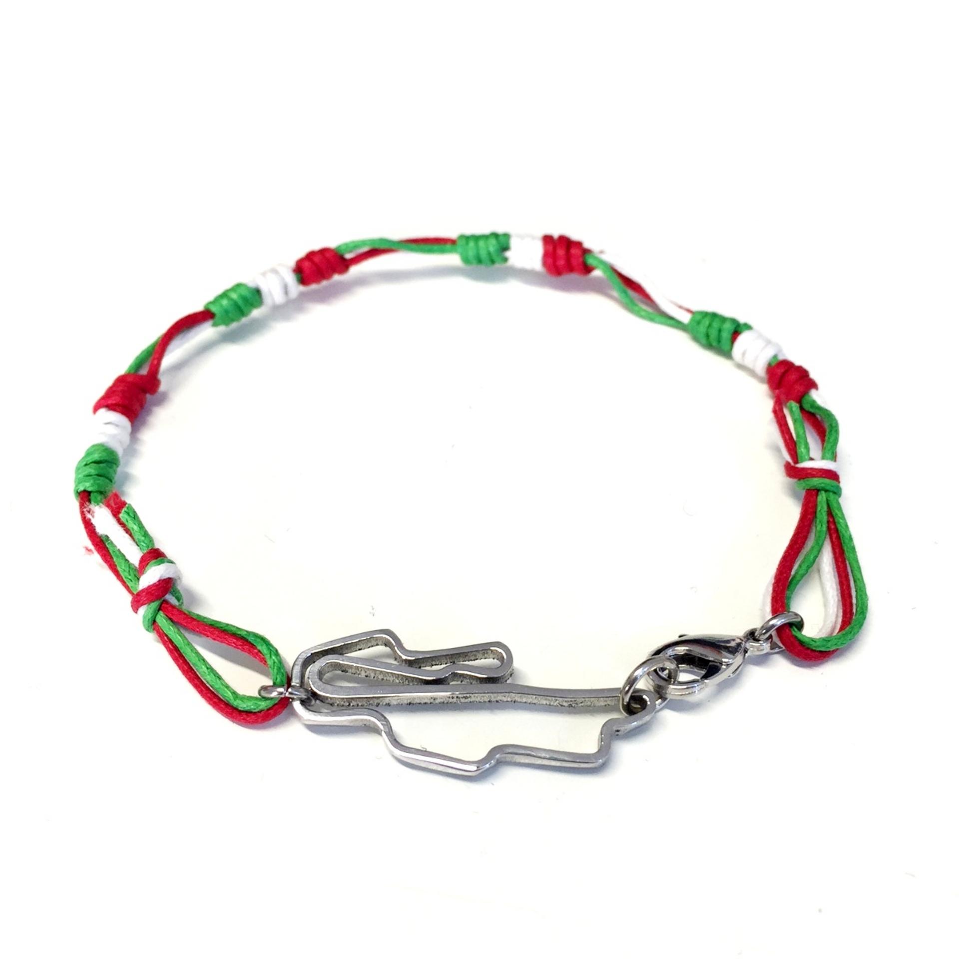 Circuito Del Mugello : Stainless steel bracelet mugello italian flag circuiti gioielli